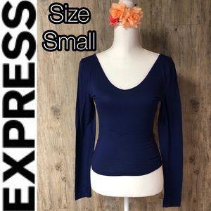 Express open back crop top